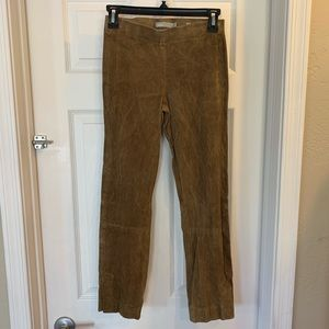 Vince Lamb Leather Pull On Pants